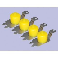 DC7012 - Britpart Polyurethane Standard Height Bump Stop Kit in Yellow - For Discovery 2