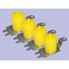 DC7013 - Britpart Polyurethane Extended Height Bump Stop Kit in Yellow - For Discovery 2