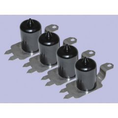 DC7113 - Britpart Polyurethane Extended Height Bump Stop Kit in Black - For Discovery 2