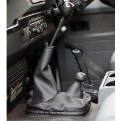 EXT014-2 - Defender Gear Level Gaiter by Exmoor Trim in Black Leatherette - Will Fit all Defenders up to 2007