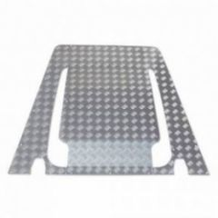 FBKIT01-07/A - Bonnet Centre Chequer Plate in Satin / Silver Anodised - For Puma Defender 2007 Onwards