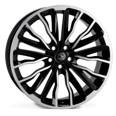 HARRIER-BLP - Hawke Harrier Alloy Wheel in Black with Polished Finish - For Range Rover Sport, Vogue or Discovery