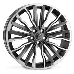 HARRIER-GRY - Hawke Harrier Alloy Wheel in Grey with Polished Face - For Range Rover Sport, Vogue or Discovery
