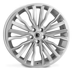 HARRIER-SIL - Hawke Harrier Alloy Wheel in Grey in Silver - For Range Rover Sport, Vogue or Discovery