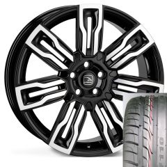 HERMES-BKF-TYRE - Wheel and Tyre - Hakwe Hermes Alloy Wheel in Java Black with Polished Face