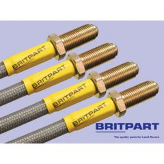 DA2412S - Discovery Brake Hose Kit by Britpart - Stainless & Braided - Standard Height Non ABS From 1995 Onwards