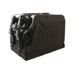 JCHO004 - Double Jerry Can Holder by Front Runner - Roof Rack Mounted Jerry Can Holder