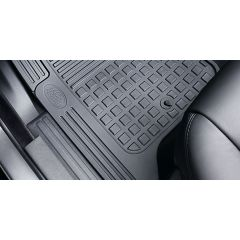 VPLAS0252 - Discovery 3 & 4 Premium Black Rubber Mat Set - Genuine Land Rover (RHD) - From 2014