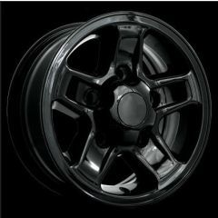 LR023391BLK - Defender Boost Alloy In Gloss Black - 16 x 7 - Will Fit Defender, Discovery 1 and Range Rover Classic