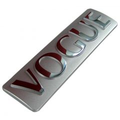 LR028094 - Genuine Vogue One-Piece Rear Badge In Silver And Chrome  - From Range Rover L322 2012 Model