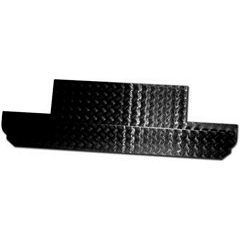 LR156B - Bulkhead Chequer Plate Panel For Defender Upto 1998 - 2mm Black
