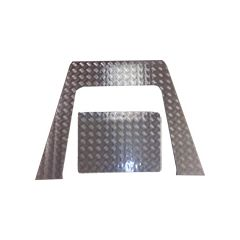 LR182S-3 - Defender Two-Piece Bonnet Chequer Plate - From 2007