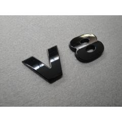 LR3L556BL - Gloss Black Lettering - V8 - Exactly the Same Dimensions as Genuine Item