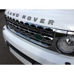 LR4G612 - Discovery 4 Front Grille In Full Chrome - Fits up to 2014 (Doesn't fit Facelift Vehicles)