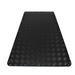 LR67B - Defender Chequer Plate Bonnet Protector - 2mm Black