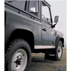 LR75-3 - Chequer Plate Sill Protectors For Defender 90 In 3mm Natural Finish