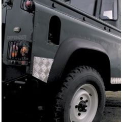 LR77 - Defender Rear Wing Chequer Plate - For Defender 90 - 2mm Aluminium Finish