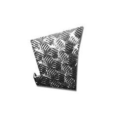 LR77S-3 - Defender Rear Wing Chequer Plate - For Defender 90 - 3mm Satin Finish