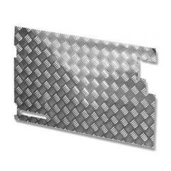 LR81-3 - Chequer Plate for Rear Door Casing for Defender 83-88 and Series Land Rover - No Wiper Hole - In Natural Finish 3mm
