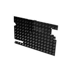 LR81B - Chequer Plate for Rear Door Casing for Defender 83-88 and Series Land Rover - No Wiper Hole - In Black 2mm