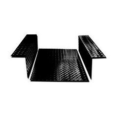 LR84B - Load Area In Chequer Plate - For Defender 90 - 2mm Black Finish