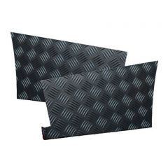 LR85B - Defender Rear Wing Chequer Plate - For Defender 110 - 2mm Black Finish