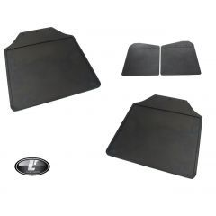 LRC1064 - Defender Front and Rear Mudflap Kit - Both Front and Rear Pairs for Defender 110 or 130