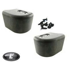 LRC1082 DPT100070 - Front Bumper End Cap Kit for Land Rover Defender - Comes as Two End Caps and Clips