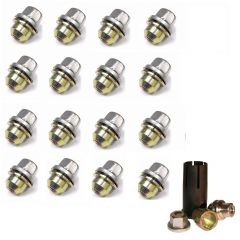 LRC1132 - Set Of 16 Alloy Wheel Nuts Plus Locking Wheel Nut Kit - For Discovery 2 and Range Rover P38