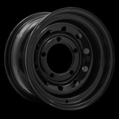"""LRC5018 - Steel Modular Wheel in Black - 16"""" x 7"""" - Will Fit Defender, Discovery 1 and Range Rover Classic"""