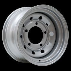 """LRC5022 - Steel Modular Wheel in Silver - 16"""" x 8"""" - Will Fit Defender, Discovery 1 and Range Rover Classic"""