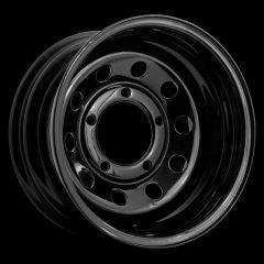 """LRC5020 - Steel Modular Wheel in Black - 16"""" x 8"""" with -35 Offset - Will Fit Defender, Discovery 1 and Range Rover Classic"""