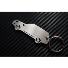 LRC8013 - Range Rover Key Ring - Range Rover Sport Side View Keyring in 2mm Brushed Stainless Steel