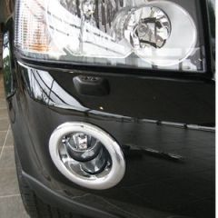 LRF255 - Fog Lamp Covers In Chrome - Doesn't Fit Later Style Fog Lamps - For Freelander 2