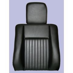 MRC6982H - Deluxe Outer Seat Back for Series Land Rover in Black Vinyl with Headrest