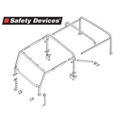 RBL1887SSS - Defender Roll Cage - 90 Soft Top Roll Cage - Full External Multi-Point Bolt-in Roll Cage