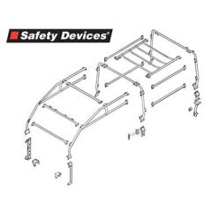 RBL2427SSS - Defender Roll Cage - 110 Four-Door Station Wagon - Full 6 Point External Roll Cage