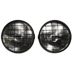 RL022G - Pair of RoadRunner Ring Rectangular Driving Lamps - 55w Halogen (with Guards) IMAGE SHOWS WITHOUT GUARD