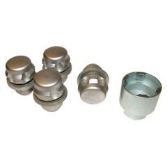 RRB500100G - OEM Set Of 4 Locking Nuts With Key For Alloy Wheels - Will Fit All Range Rover from 2006, Range Rover Sport and Discovery 3 and 4