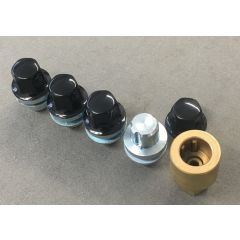 RRB500100BLACK - Black Locking Alloy Wheel Nut - Will Fit All Range Rover from 2006, Range Rover Sport and Discovery 3 and 4