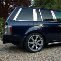 RRB546 - Range Rover L322 Chrome Pillar Covers - 12 Piece Kit  (For Vehicles from 2006 Onwards)