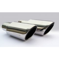 RRE320 - Twin Exhaust Tail Pipe Tips By Hawke - In Polished Stainless Steel - For Range Rover Sport 09 Onwards