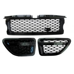 RRG192 - Range Rover Sport 2012 Autobiography Style Grille and Side Vents in Gloss Black - Black / Black / Black