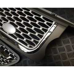 RRG193 - Range Rover Sport 2012 Autobiography Style Grille and Side Vents in Grey, Chrome and Silver