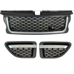 RRG194 - Range Rover Sport 2012 Autobiography Style Grille and Side Vents in Silver / Grey / Black