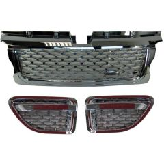 RRG196 - Range Rover Sport 2012 Autobiography Style Grille and Side Vents in Chrome