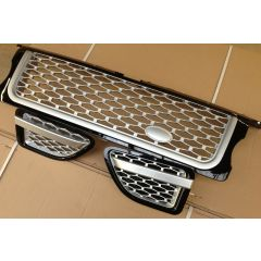 RRG199 - Range Rover Sport 2012 Autobiography Style Grille and Side Vents in Black / Silver / Silver