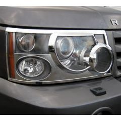 RRG201 - Front Headlamp Guards In Chrome Plated for Range Rover Sport
