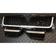 RRG286 - Range Rover Sport Autobiography Grille and Side Vent Kit In Black / Silver / Black - For 2009 - 2013 Range Rover Sport