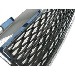 RRG336CB - Range Rover L322 Supercharged Mesh Style Square Grille - With Chrome Surround and Black Mesh